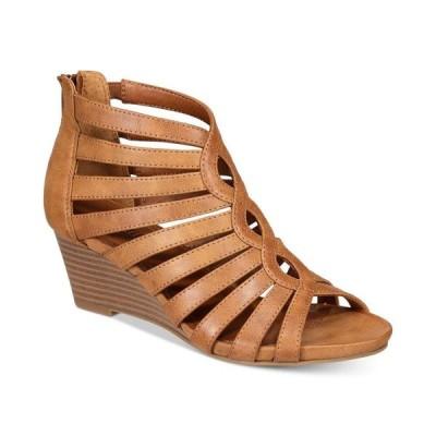 ホワイトマウンテン White Mountain レディース サンダル・ミュール シューズ・靴 Victoria Strappy Wedge Sandals Cognac