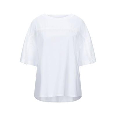 アルファスタジオ ALPHA STUDIO T シャツ ホワイト 38 コットン 95% / ポリウレタン 5% T シャツ