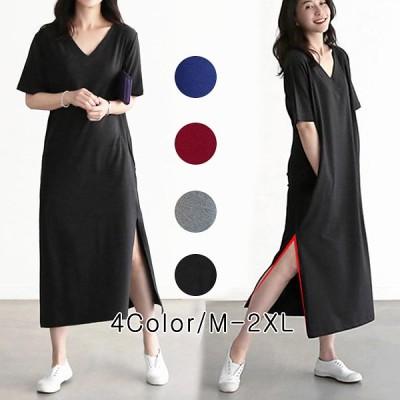 【送料無料】2020年春夏の新作*韓国ファッションコレクション*韓国ファッションTシャツワンピース