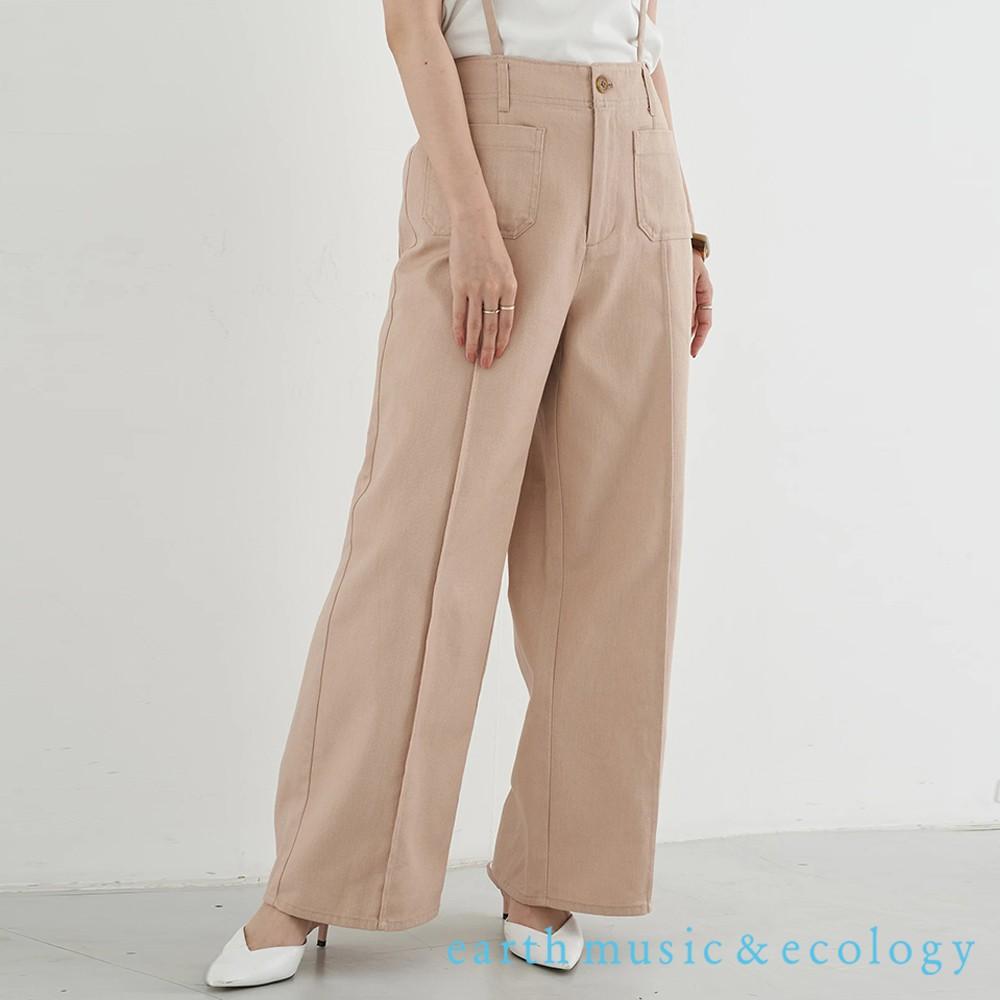 earth music&ecology 2WAY可拆式吊帶口袋寬褲(1B16L0F0540)
