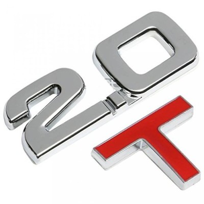 全国配送料無料!Eforcar 2 個入りオーダーメイド バンパー ステッカー クローム エンブレム デカール トリム バッジ ポーランド語クローム 2.0 t フェンダー車