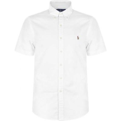 ラルフ ローレン Polo Ralph Lauren メンズ 半袖シャツ ワイシャツ トップス Short Sleeve Oxford Shirt BSR White