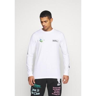 ブラッドブラザー カットソー メンズ トップス ALDGATE TEE - Long sleeved top - white