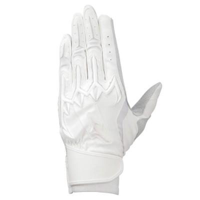 メンズ 【ミズノプロ】シリコンパワーアークLI【両手用】[ユニセックス]高校野球ルール対応モデル 10ホワイト×ホワイト 23 手袋 バッティング手袋 1EJEH200