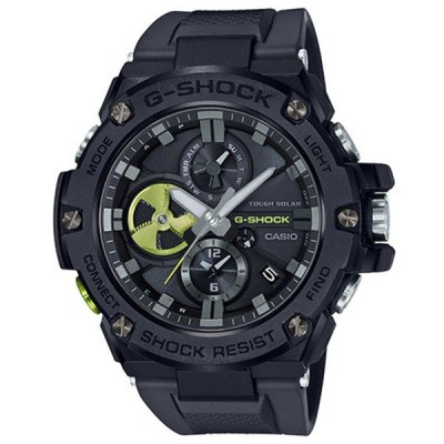 G-SHOCK カシオ Gショック G-STEEL ジースチール Bluetooth搭載 タフネスクロノグラフ  ソーラー 腕時計 メンズ  GST-B100B-1A3JF