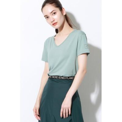 ECOALF エコアルフ ESPOT バックプリント Tシャツ / ESPOT T-SHIRT WOMAN レディース グリーン S