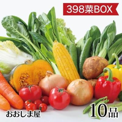 398菜BOX(サンキューやさいボックス)野菜 10品 詰め合わせ 夏野菜 冬野菜 冷蔵便 おおしま屋出荷 送料無料 ギフト 大嶌屋(おおしまや)