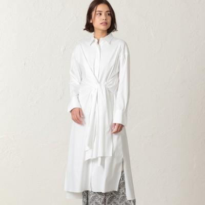 ラザーブロード ツイストシャツドレス