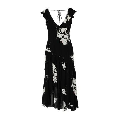 FREE PEOPLE ロングワンピース&ドレス ブラック 0 レーヨン ロングワンピース&ドレス