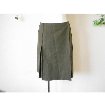 レシピ RECIPE 三陽商会 イタリア製 生地使用 秋冬 向き ひざ丈 の お洒落 な 巻き スカート 3