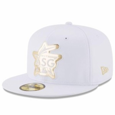 New Era ニュー エラ スポーツ用品  New Era White 2017 MLB All-Star Game Liquid Chrome 59FIFTY Fitted Hat