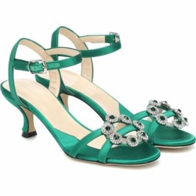 クリストファー ケイン Christopher Kane レディース サンダル・ミュール シューズ・靴 embellished satin sandals Emerald