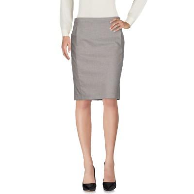 ファビアナフィリッピ FABIANA FILIPPI ひざ丈スカート ライトグレー 50 ウール 90% / カシミヤ 8% / ポリウレタン 2%