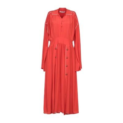 フィロソフィ ディ ロレンツォ セラフィニ PHILOSOPHY di LORENZO SERAFINI 7分丈ワンピース・ドレス 赤茶色 42 ア