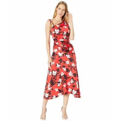 ビーシービージーマックスアズリア ワンピース トップス レディース One Shoulder Dress Rosso/Rosso Floral