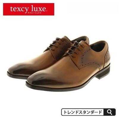 ビジネスシューズ アシックス 走れる革靴 日本製 レースアップ 外羽根 ビジネスシューズ texcy luxe メンズ 紳士用 asics レザー 革 消臭 大きい 軽量 ブラウン