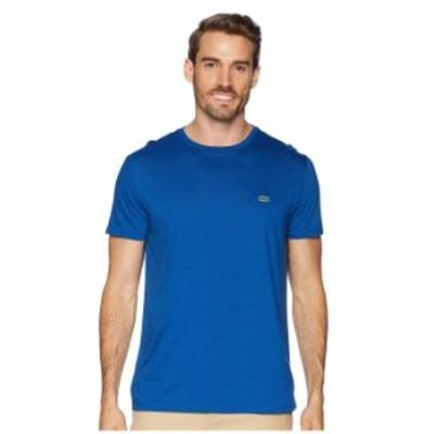 ラコステ メンズ シャツ トップス Short Sleeve Pima Crew Neck T-Shirt Electric