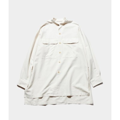 """unfil アンフィル """"silk cotton twill stand collar shirt"""" シルクコットンツイルスタンドカラーシャツ"""