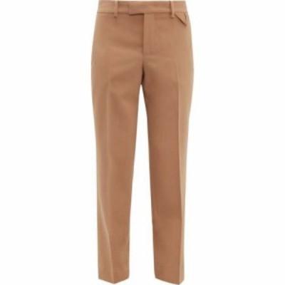 ボッテガ ヴェネタ Bottega Veneta レディース ボトムス・パンツ Wool straight-leg trousers Tan