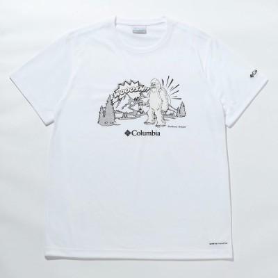 Columbia コロンビア ムースアベニューショートスリーブT PM0172-100 トレッキング アウトドア 半袖Tシャツ メンズ WHITE SNOWMAN