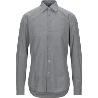 ZZEGNA メンズ シャツ トップス checked shirt Grey