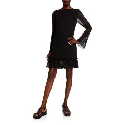 アディアム レディース ワンピース トップス Plisse Chiffon Dress