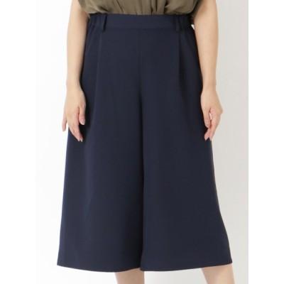 【大きいサイズ】【L-4L】【大きいサイズ】セレモニーキュロットスカート 大きいサイズ パンツ レディース
