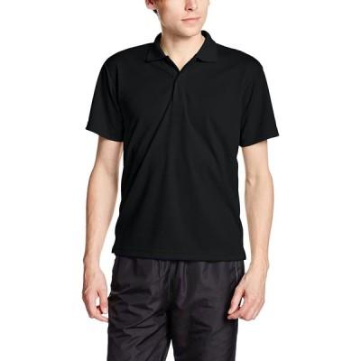 [グリマー] 半袖 4.4オンス ドライ ポロシャツ [UV カット] 00302-ADP ブラック M (日本サイズM相当)