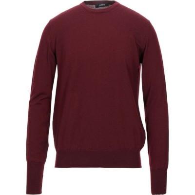 アルファス テューディオ ALPHA STUDIO メンズ ニット・セーター トップス sweater Maroon