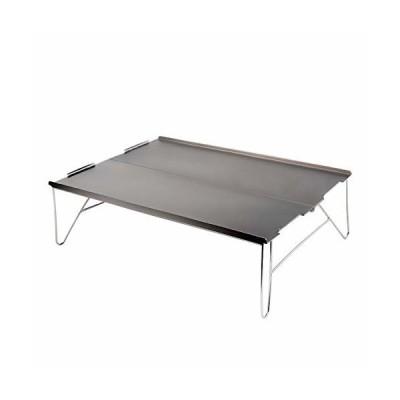 Zoarlan アウトドアテーブル ミニテーブル アルミ製 ソロキャンプに最適 軽量 組立簡単 収納袋が付き 銀色