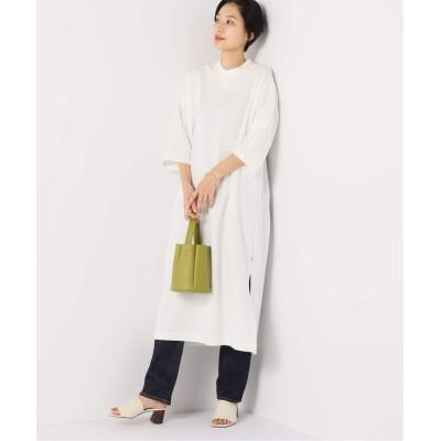 レディース ボイスフロムベイクルーズ 【TRADITIONAL WEATHERWEAR】SLIT LONGT DRESS ホワイト S