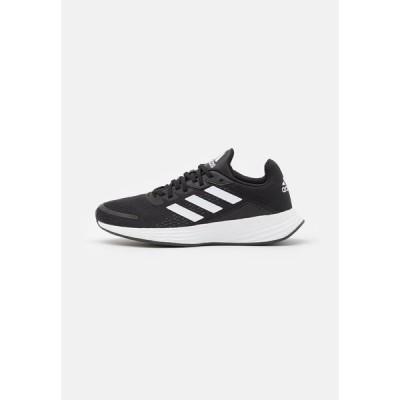 アディダス シューズ レディース ランニング DURAMO - Neutral running shoes - core black/footwear white/carbon