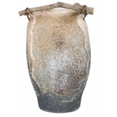 白窯変手桶花器  信楽焼 陶器 花入れ 花器 花入 花瓶    彩り屋