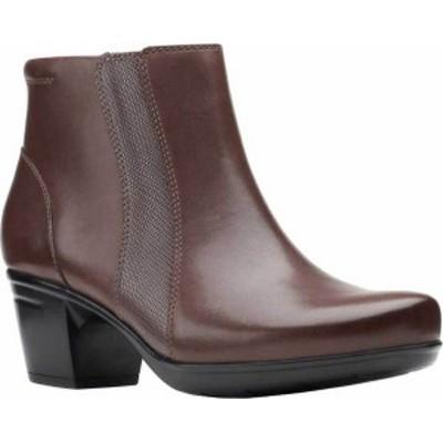 クラークス レディース ブーツ・レインブーツ シューズ Women's Clarks Emslie Newport Ankle Boot Dark Brown Full Grain Leather