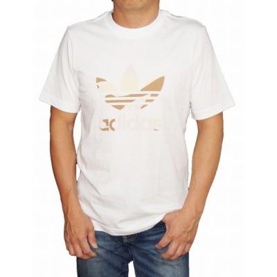 アディダス adidas オリジナルス 半袖Tシャツ 白 茶  トレフィル ED6960 メンズ ホワイト 夏物