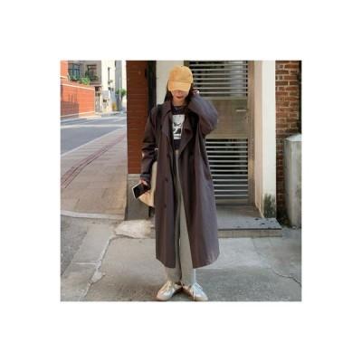 【送料無料】薄いスタイル 長袖 ダブルブレスト  コート 秋と冬 韓国風 中長スタイ | 364331_A63860-9757245