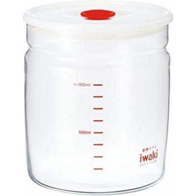 送料無料 iwaki(イワキ) 耐熱ガラス 密閉容器 キャニスター 径12.4×高さ13.7cm 1L KT7002MP-R ...