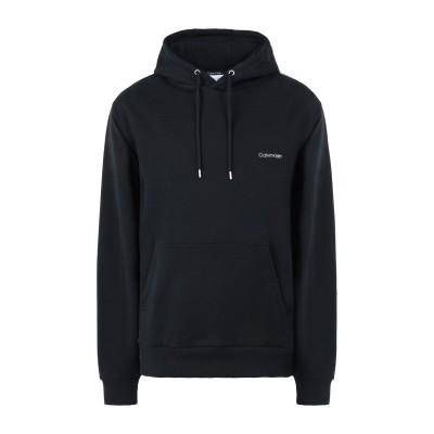 カルバン クライン CALVIN KLEIN スウェットシャツ ブラック L オーガニックコットン 100% スウェットシャツ
