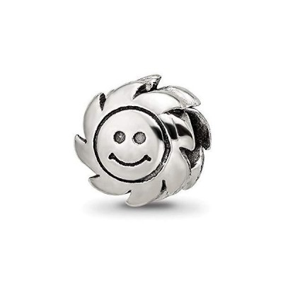 Bead Charm White Sterling Silver Themed 9.09 mm Reflections Smiling Sun並行輸入