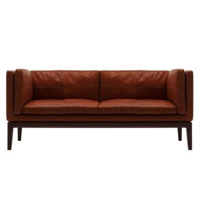 Fuji furniture PERCHE 3Pソファー ウォールナット オイル調革FO
