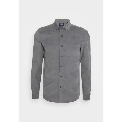 ドッカーズ シャツ メンズ トップス ALPHA SPREAD COLLAR - Shirt - gray heather