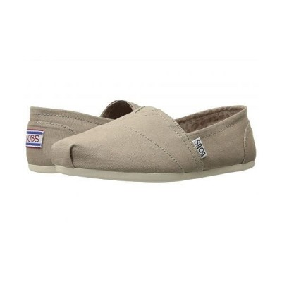 BOBS from SKECHERS ボブス スケッチャーズ レディース 女性用 シューズ 靴 フラット Bobs Plush - Peace and Love - Taupe