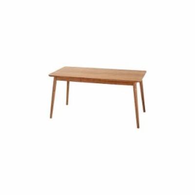 ダイニングテーブル 幅150×奥行80×高さ72 天然木 アッシュ 天然木化粧繊維板 アッシュ ウレタン塗装(代引不可)【送料無料】