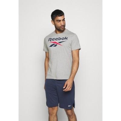 リーボック Tシャツ メンズ トップス BIG LOGO TEE - Print T-shirt - medium grey heather/vector navy