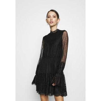 エヌ エー ケイ ディ ワンピース レディース トップス FRILL DRESS - Cocktail dress / Party dress - black