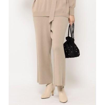 Couture Brooch/クチュールブローチ 【セットアップ可】ニットリブパンツ ライトベージュ(051) 38(M)