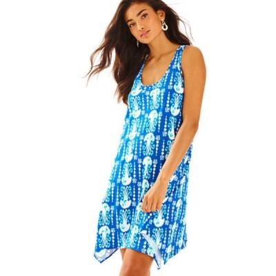 ワンピース リリーピュリッツァー Lilly Pulitzer Melle Dress Indigo Get in Line Blue Navy White S L