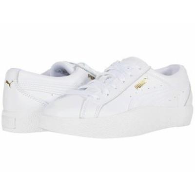 プーマ レディース スニーカー シューズ Love Tumble Leather Puma White/Puma White/Puma White