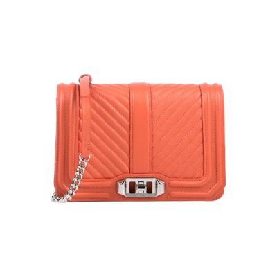 レベッカ ミンコフ REBECCA MINKOFF メッセンジャーバッグ 赤茶色 革 メッセンジャーバッグ