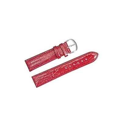 特別価格Genuine Leather Watch Band Quick Release Durable Watch Strap 20mm Black Red好評販売中